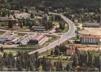 Mäntyharjun keskustaa vuonna 1969-1970. Kuva: Mäntyharjun museo, kuvaaja: Toiminimi Karhumäki.