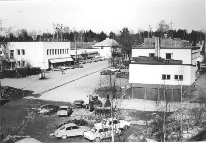 Mäntyharjun keskusta vuonna 1980. Kuva: Mäntyharjun museo, kuvaaja: Hannu Heilio.