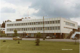 Kunnan virastotalo, posti ja teletoimisto vuonna 1980. Kuva: Mäntyharjun museo, kuvaaja: Hannu HeilioKunnan virastotalo vuonna 1978. Kuva: Mäntyharjun museo, kuvaaja: Hannu Heilio.