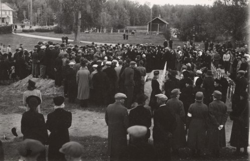 Sankarihautajaiset. Kuva: Mäntyharjun museo.