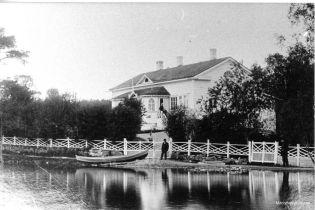 Domanderin apteekki vuonna 1900. Kuva: Mäntyharjun museo.