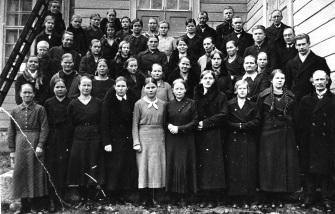 Mäntyharjun kirkkokuoro vuonna 1920. Kuva: Mäntyharjun museo.