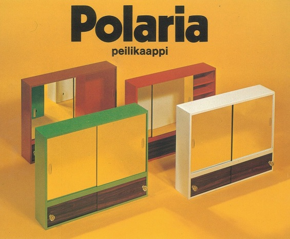 1980-luvun värikkäitä peilikaappeja.